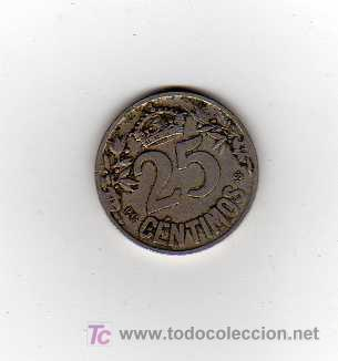 Monedas de España: MONEDA DE 25 CENTIMOS - ESPAÑA 1925 - Foto 2 - 15153776