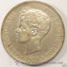 Monedas de España: ALFONSO XIII - 5 PESETAS 1898 *18-98 . Lote 27621645