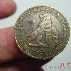 Monedas de España: 1479 GOBIERNO PROVISIONAL BONITA MONEDA DE 5 CENTIMOS AÑO 1870 MBC - MIRA MAS EN MI TIENDA. Lote 15489628
