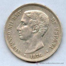 Monedas de España: PRECIOSA MONEDA DE PLATA 5 PESETAS DE ALFONSO XII. AÑO 1876*76. PRECIOSA Y ESCASA. Lote 27320533
