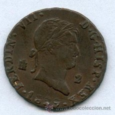 Monedas de España: 2 MARAVEDIS FERNANDO VII AÑO 1829. Lote 26283731