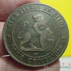Monedas de España: 2502 GOBIERNO PROVISIONAL MUY BONITA 10 CTMOS AÑO 1870 MBC+ MAS MONEDAS EN MI TIENDA C&C. Lote 26332997