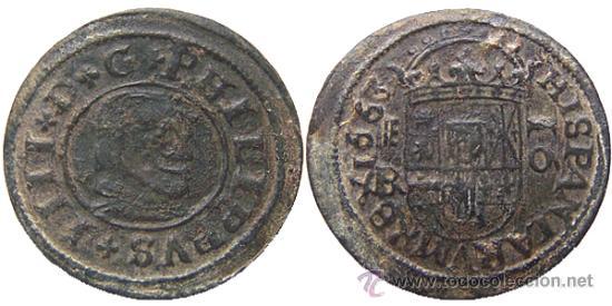 *** MUY BONITOS 16 MARAVEDIS DE FELIPE IV 1663 SEGOVIA BR *** (Numismática - España Modernas y Contemporáneas - De Reyes Católicos (1.474) a Fernando VII (1.833))
