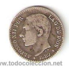 Monedas de España: ALFONSO XII 50 CENTIMOS 1880 MSM . Lote 25057147