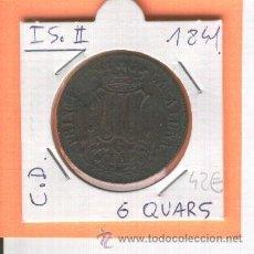 Monedas de España: PRINCIPADO DE CATALUÑA. MONEDA CATALANA..ISABEL II. 6 CUARTOS. 6 QUAR. AÑO 1841.QUARTOS. . Lote 25975412