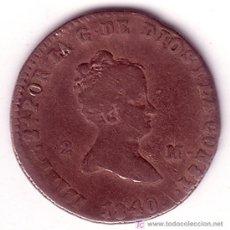 Monedas de España: MONEDA DE 2 MARAVEDIS ISABEL II- CECA SEGOVIA-AÑO 1840. Lote 140283518