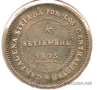 MEDALLA-REPRODUCCIÓN: 10 REALES. 1873-1973. CARTAGENA. CENTENARIO REVOLUCIÓN CANTONAL. PLATA. BONITA (Numismática - España Modernas y Contemporáneas - De Isabel II (1.834) a Alfonso XIII (1.931))