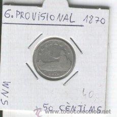 Monedas de España: MONEDA ANTIGUA. PLATA. RARA.GOBIERNO PROVISIONAL.50 CENTIMOS. 1870.ESPAÑA.. Lote 26030628