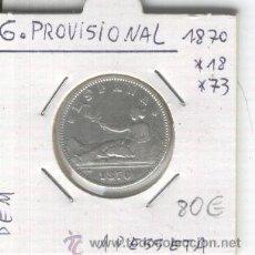 Monedas de España: MONEDA.ANTIGUA.PLATA.GOBIERNO PROVISIONAL.UNA PESETA. 1. AÑO 1870. * 18*73.CON ESTRELLAS. DEM.ESPAÑA. Lote 26030608
