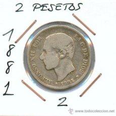 Monedas de España: 2 PESETAS DE PLATA DE ALFONSO XII AÑO 1881. Lote 26943211