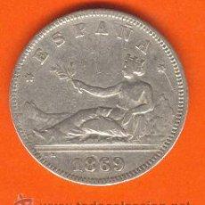 Monedas de España: GOBIERNO PROVISIONAL 2 PESETAS PLATA 1869 (*18-69) SNM MBC ESTRELLAS LEGIBLES. Lote 27209823