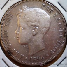 Monnaies d'Espagne: ALFONSO XIII 5 PESETAS 1896*96 VER FOTOS. Lote 19226588