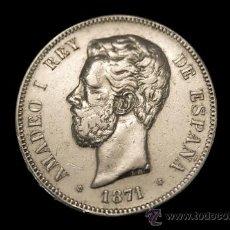 Monedas de España: MONEDA 5 PESETAS DE PLATA DE AMADEO I MADRID 1871 * 18-71. Lote 26819419