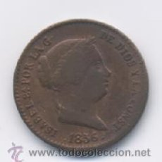 Monedas de España: ISABEL II- 10 CENTIMOS DE REAL- 1856- SEGOVIA. Lote 19602069