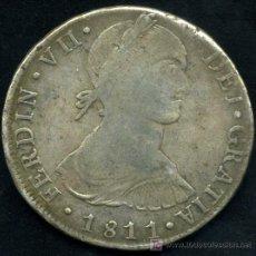 Monedas de España: 8 REALES DE PLATA DE FERNANDO VII - LIMA 1811. Lote 27519043