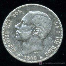 Monedas de España: ALFONSO XII : 1 PESETA 1883 *83 M.S.M. (PLATA). Lote 24933649