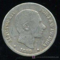 Monedas de España: ALFONSO XII - FILIPINAS : 10 CENTAVOS DE PESO 1882 (PLATA). Lote 20907975