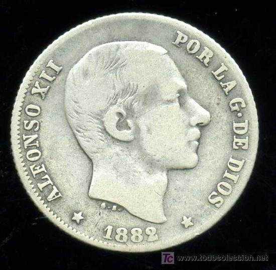 ALFONSO XII - FILIPINAS : 20 CENTAVOS DE PESO 1882 (PLATA) (Numismática - España Modernas y Contemporáneas - De Isabel II (1.834) a Alfonso XIII (1.931))
