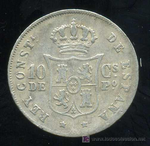 Monedas de España: ALFONSO XII - FILIPINAS : 10 Centavos de Peso 1882 (Plata) - Foto 2 - 20907975