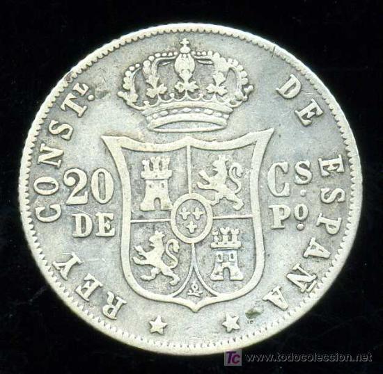 Monedas de España: ALFONSO XII - FILIPINAS : 20 Centavos de Peso 1882 (Plata) - Foto 2 - 20908228