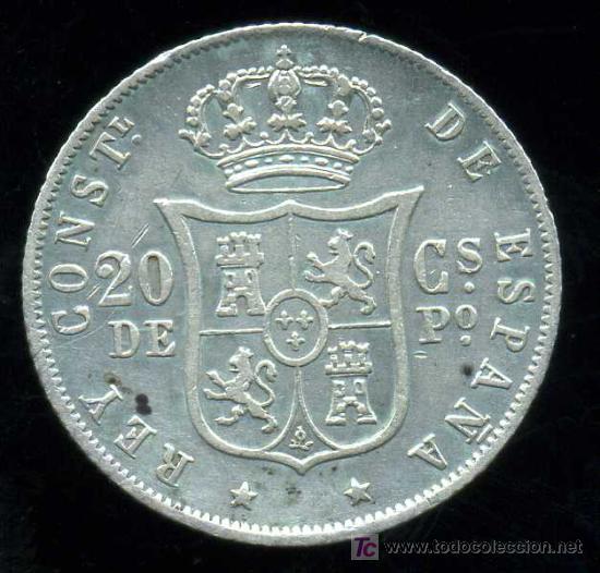 Monedas de España: ALFONSO XII - FILIPINAS : 20 Centavos de Peso 1882 (Plata) - Foto 2 - 26341307