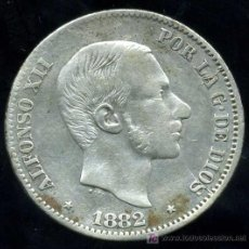 Monedas de España: ALFONSO XII - FILIPINAS : 50 CENTAVOS DE PESO 1882 (PLATA) . Lote 20915558
