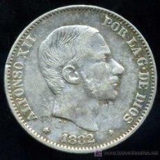 Monedas de España: ALFONSO XII - FILIPINAS : 50 CENTAVOS DE PESO 1882 (PLATA) . Lote 20915972