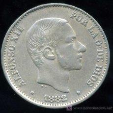 Monedas de España: ALFONSO XII - FILIPINAS : 50 CENTAVOS DE PESO 1882 (PLATA) MBC+. Lote 20916007