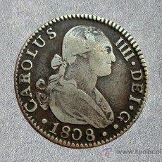 Monedas de España: MONEDA 2 REALES DE PLATA DE CARLOS IV 1808. Lote 27033739