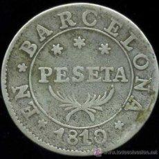 Monedas de España: JOSE NAPOLEON : 1 PESETA 1810 BARCELONA (PLATA). Lote 27598788