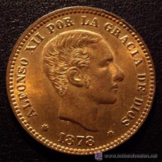 Monedas de España: 5 CENTIMOS ALFONSO XII 1878 - SIN CIRCULAR - FLOR DE CUÑO - BRILLO ORIGINAL . Lote 27598792
