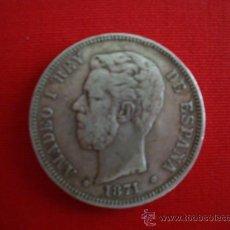 Monedas de España: 5 PESETAS (DURO) PLATA AMADEO I. Lote 27216604
