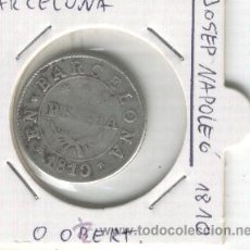 Monedas de España: MONEDA UNA PESETA 1 PESETA BARCELONA JOSE NAPOLEON AÑO 1810 GUERRA DE LA INDEPENDENCIA OCUPACION. Lote 26030529