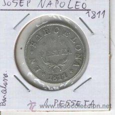 Monedas de España: MONEDA.UNA PESETA.1PESETA.BARCELONA. JOSE NAPOLEON.AÑO 1811.GUERRA DE INDEPENDENCIA.OCUPACION.PLATA.. Lote 26030540
