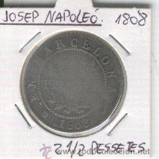 Monedas de España: MONEDA.PLATA.JOSE NAPOLEON.OCUPACION.BARCELONA.AÑO 1808.GUERRA DE INDEPENDENCIA.2 PESETAS Y MEDIA. .. Lote 26030536