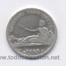 Monedas de España: GOBIERNO PROVISIONAL- 1 PESETA-1869-SNM. Lote 22709390