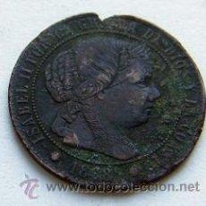 Monedas de España: 1/2 CENT DE ESCUDO ISABEL II 1868 BARCELONA. Lote 27567213