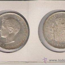Monedas de España: ALF15-ALFONSO XIII. 5 PESETAS. MADRID. 1899*18-99. PLATA. SC.. Lote 23591231