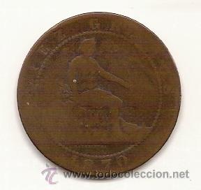 10 CENTIMOS-GOBIERNO PROVISIONAL-1870 (Numismática - España Modernas y Contemporáneas - De Isabel II (1.834) a Alfonso XIII (1.931))