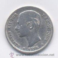 Monedas de España: ALFONSO XII- 1 PESETA-1876*18-76. Lote 24612635