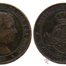 Monedas de España: *** BONITO 1/2 CENTIMO DE ESCUDO DE ISABEL II, SEGOVIA 1868 ***. Lote 26786364