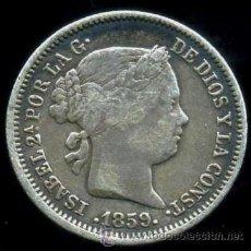 Monedas de España: ISABEL II : 1 REAL 1859 MADRID (PLATA). Lote 15435267