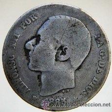 Monete da Spagna: 1 PESETA ALFONSO XII 1885 PLATA. Lote 27483958