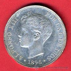 Monedas de España: MONEDA 5 PESETAS 1896, DURO DE PLATA , ALFONSO XIII PLATA , EBC CASI SIN CIRCULAR , ORIGINAL , M819. Lote 26089911
