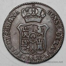 Monedas de España: ISABEL II - CATALUÑA 3 CUARTOS 1841 EXCELENTE. Lote 27546962