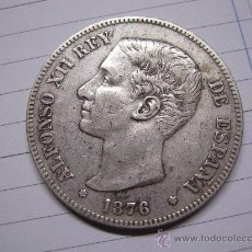 Monedas de España: DURO DE PLATA DE ALFONSO XIII - 1876 - *76 BUEN ESTADO -. Lote 237045680
