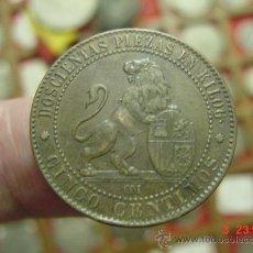 Monedas de España: 1379 ESPAÑA GOBIERNO PROVISIONAL 5 CENTIMOS AÑO 1870 PRECIOSA PARA UNA BUENA COLECCION. Lote 26555954