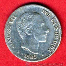 Monedas de España: MONEDA 10 CENTAVOS MANILA FILIPINAS, 1885 MBC , PLATA , ORIGINAL, M835. Lote 27238162