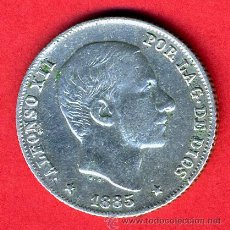 Monedas de España: MONEDA 20 CENTAVOS 1885 MANILA FILIPINAS, MBC , ORIGINAL, M838. Lote 27238506