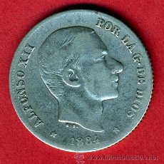 Monedas de España: MONEDA 20 CENTAVOS 1884 MANILA FILIPINAS, MBC- , ORIGINAL, M839. Lote 27238537